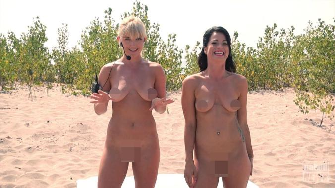 TV presenters Elia + Madison strip NUDE for Workout on Naked News TV